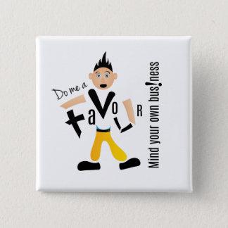 Crazydeal p579の好意の標準的な正方形ボタン 5.1cm 正方形バッジ