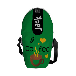 Crazydeal p721 I愛コーヒーカッコいいの熱狂するなクリエイティブ メッセンジャーバッグ