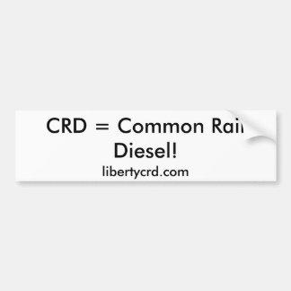 CRD =共通の柵のディーゼル! 、libertycrd.com バンパーステッカー