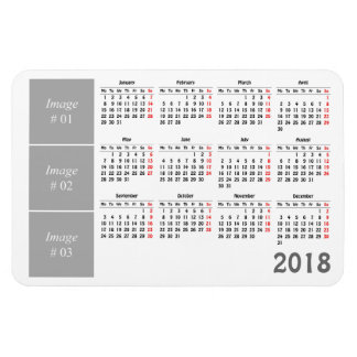 Create your own 2018 calendar マグネット