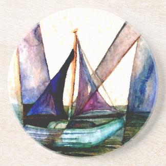 CricketDianeのヨットの抽象芸術1つの航行 コースター