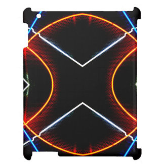 CricketDianeのiPadの場合のネオン都市モダンな幾何学的 iPadカバー