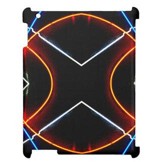 CricketDianeのiPadの場合のネオン都市モダンな幾何学的 iPadケース