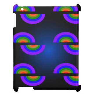 CricketDianeのiPadの場合の虹のPopArtのグラフィック iPadカバー