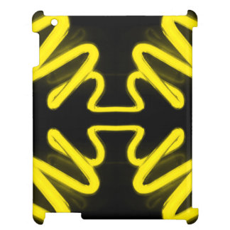 CricketDianeのiPadの場合ネオン黄色く黒いPopart iPad カバー