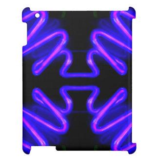 CricketDianeのiPadの場合都市ネオン紫色の黒 iPadケース