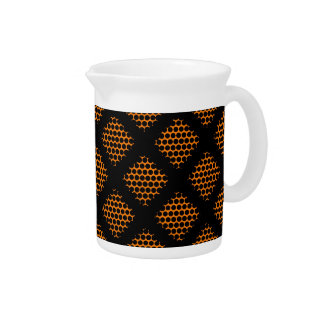 Crissオレンジ、黒いレトロの十字ライン点 ピッチャー