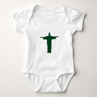 Cristo Redentor_green ベビーボディスーツ