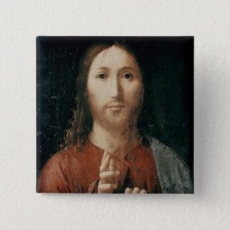 Cristo Salvator Mundi 1465年 5.1cm 正方形バッジ