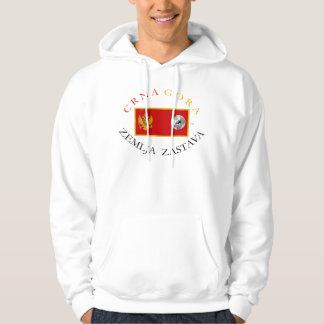 CRNA GORA (モンテネグロ)の地球の旗 パーカ