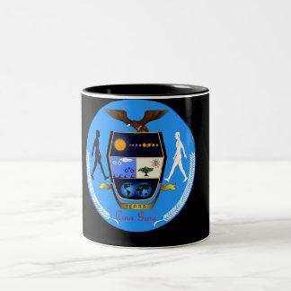 CRNA GORA (モンテネグロ)の地球COAT-OF-ARMS ツートーンマグカップ