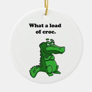 Crocのわにワニの漫画かのなんと負荷 セラミックオーナメント
