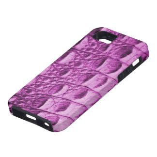 Crocのピンクの皮 iPhone SE/5/5s ケース