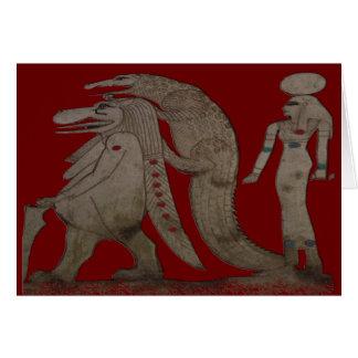 Croc及びIsisのエジプトのカバ、ギフト/挨拶 カード