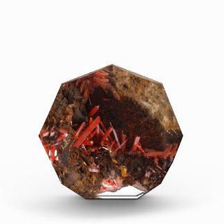 Crocoiteの美しい水晶! 表彰盾