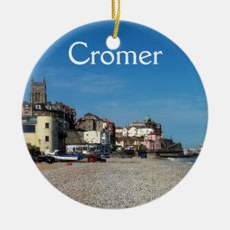 Cromerの町および桟橋のオーナメント セラミックオーナメント