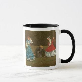 croquetのゲーム1866年(キャンバスの油) マグカップ
