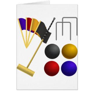Croquetの一定の挨拶状 カード