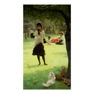 Croquet、c.1878 ポスター