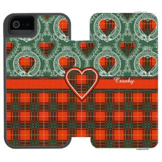 Crosbyの一族の格子縞のスコットランド人のタータンチェック iPhone SE/5/5sウォレットケース
