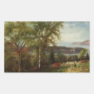 Crotonポイントのジュリービールハドソンの川 長方形シール