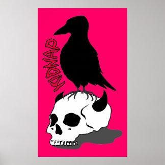 crow-skull ポスター