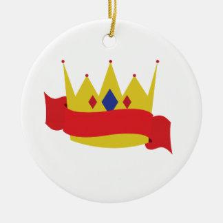 Crown Ribbon王 セラミックオーナメント
