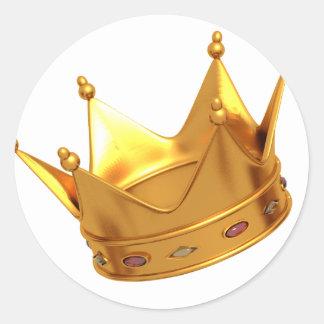 Crown Sticker王 ラウンドシール