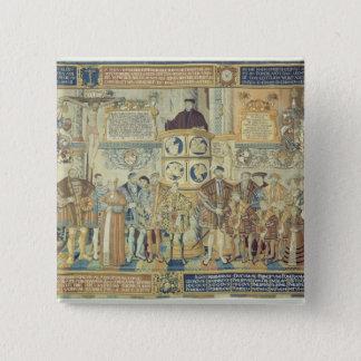 Croyのタペストリー1554年 5.1cm 正方形バッジ