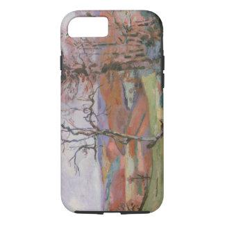 Crozant、ブリッタニー(キャンバスのPuy Barionの油 iPhone 8/7ケース
