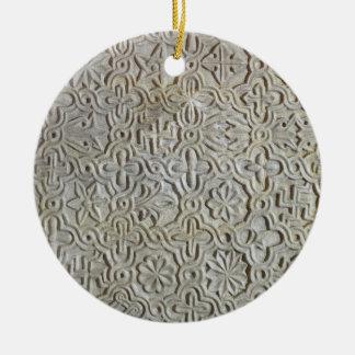cruciform装飾、第1214tが付いているビザンチンの平板 セラミックオーナメント
