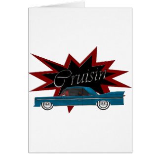 Cruisinの青のブランクの挨拶状 グリーティングカード