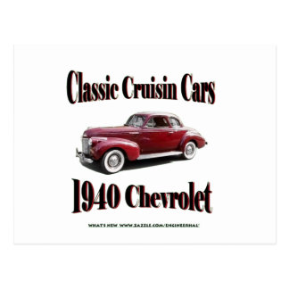 Cruisinクラシックな車1940年のシボレー ポストカード