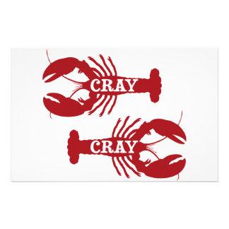 Crustacean CrayそのCrayのCrayfish 便箋