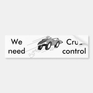 Cruz制御 バンパーステッカー