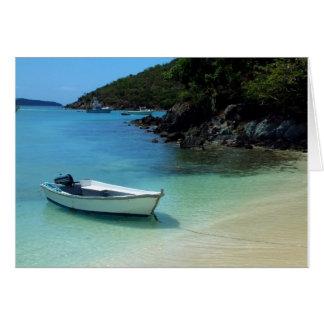 Cruz湾のボート カード