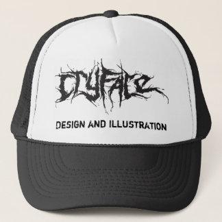 CRYFACE、デザインおよびイラストレーション キャップ