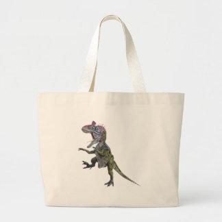 Cryolophosaurusのランニングおよび跳躍 ラージトートバッグ