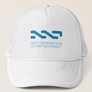 Cryptocurrencyのトラック運転手の帽子の白のNXTの生成 キャップ