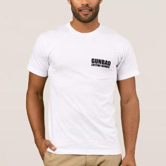 CryptorのGUNBADの互い違いのロゴのデザインv2 Tシャツ