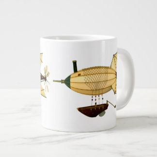 Crysella Steampunkの飛行船のコーヒー・マグ ジャンボコーヒーマグカップ