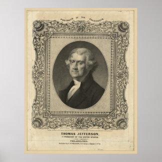 CSウィリアムスによるトーマス・ジェファーソンの石版 ポスター