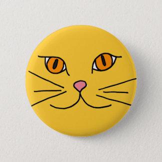 CSクールな猫ボタン 5.7CM 丸型バッジ