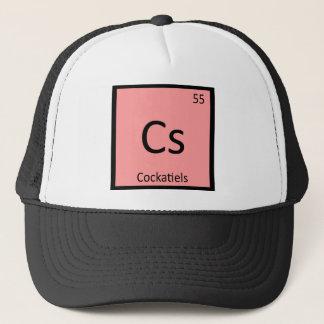 CS - Cockatiels化学周期表の要素 キャップ