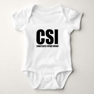 CSI -絶えずだめにされた乳児 ベビーボディスーツ