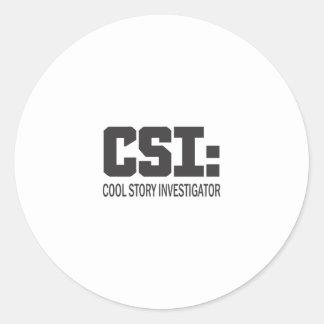 CSI: Cool storyの調査官 ラウンドシール