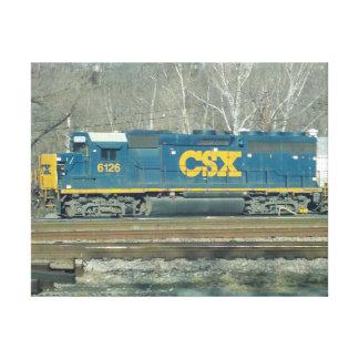 CSXのディーゼル機関 キャンバスプリント