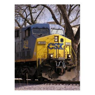 CSXの列車 ポストカード