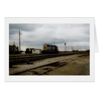 CSXの鉄道Dieeselのヤードエンジントレド、オハイオ州 カード