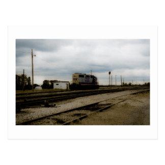 CSXの鉄道Dieeselのヤードエンジントレド、オハイオ州 ポストカード